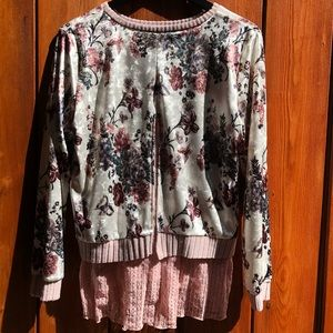 Kas New York Sweaters - Kas New York|Velvet Floral and Lace Pullover